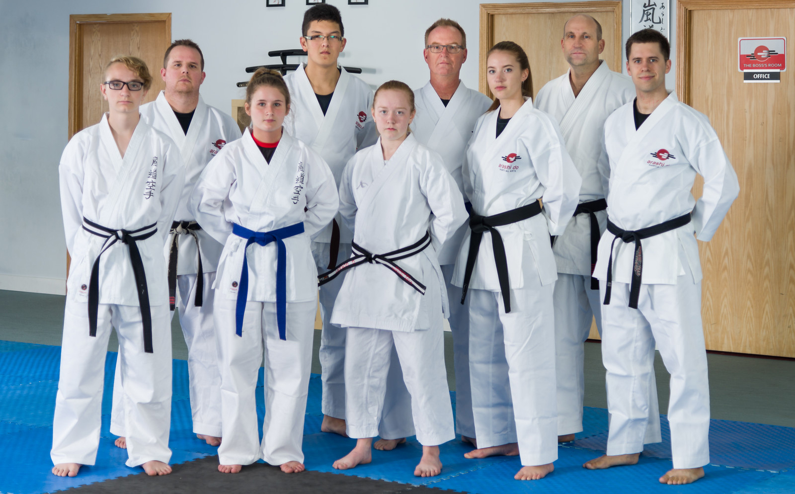 Group of Karate Students and Instructors