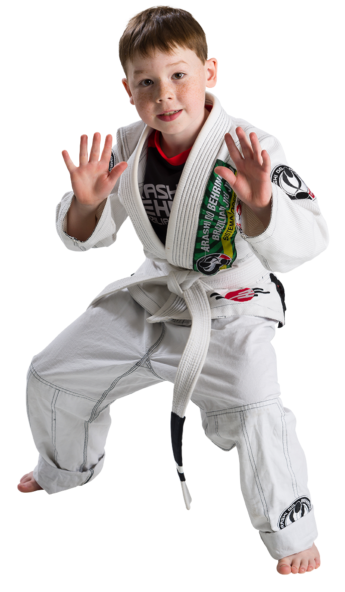 Child practicing Jiu-Jitsu
