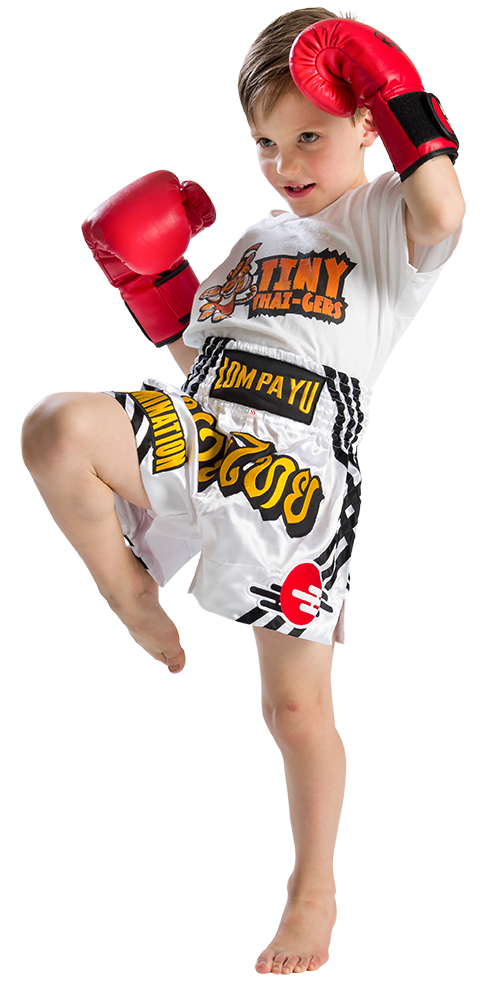 Child practicing Muay Thai